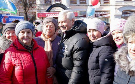 Коркинцы встретили «Крымскую весну»