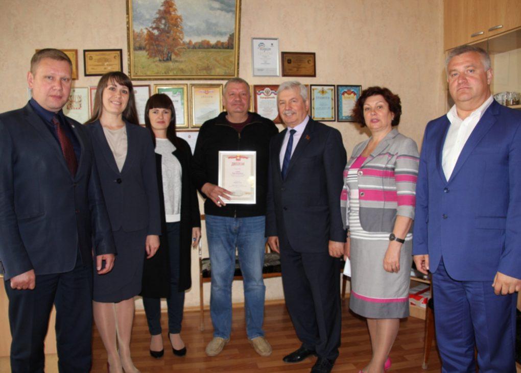 Юрия Сейидова с победой в областном конкурсе Законодательного Собрания поздравил Владимир Мякуш