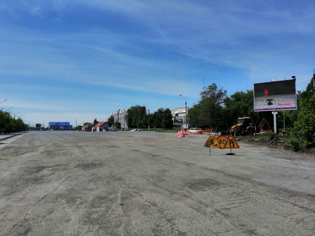 В Коркино центральную площадь готовят к асфальтированию
