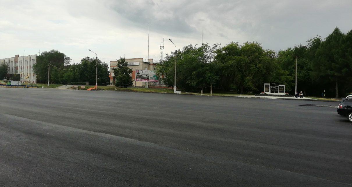 В Коркино заасфальтировали площадь