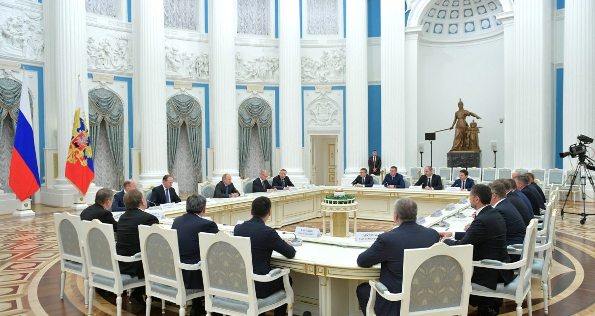В Кремле на встрече с Владимиром ПУТИНЫМ выступил Алексей ТЕКСЛЕР