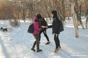 Сегодня в Коркинском районе прошла акция «Блокадный хлеб»