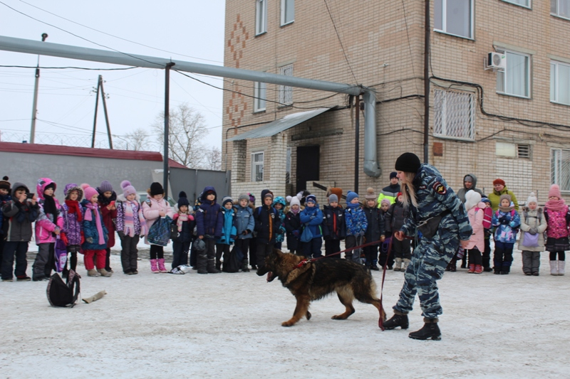 Коркинские полицейские продемонстрировали школьникам работу служебных собак