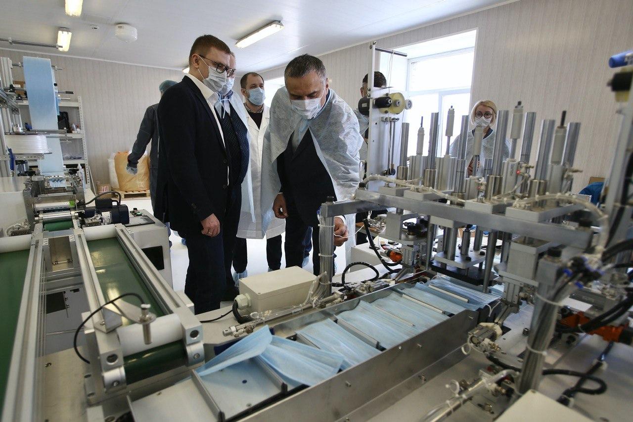 На Южном Урале запущена линия по производству медицинских масок