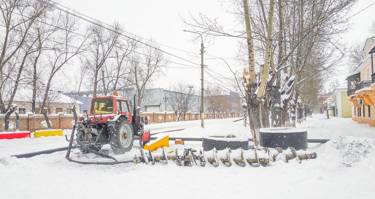 В Коркино ремонтируют коллектор