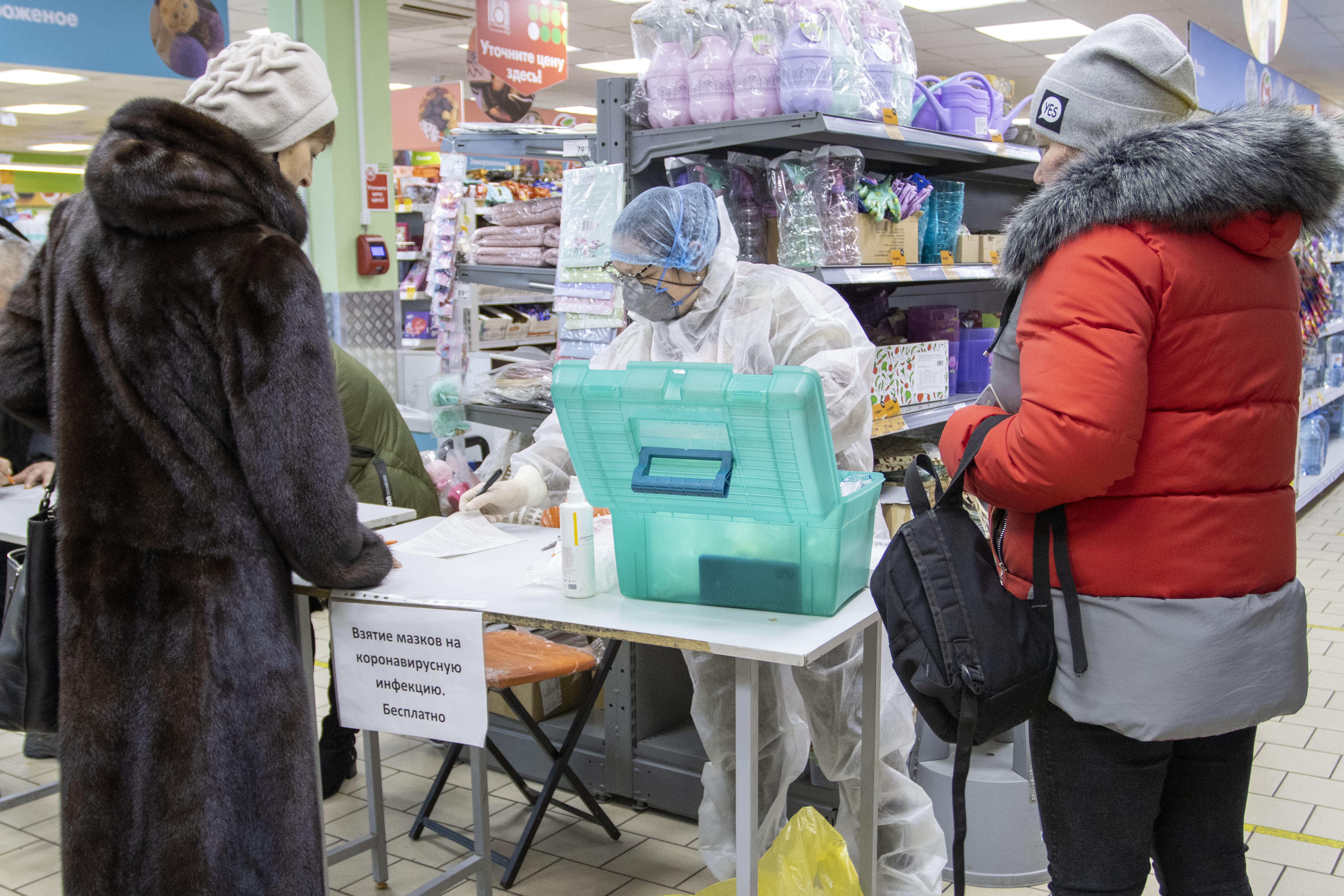 Коркинцы сдают тест на коронавирус