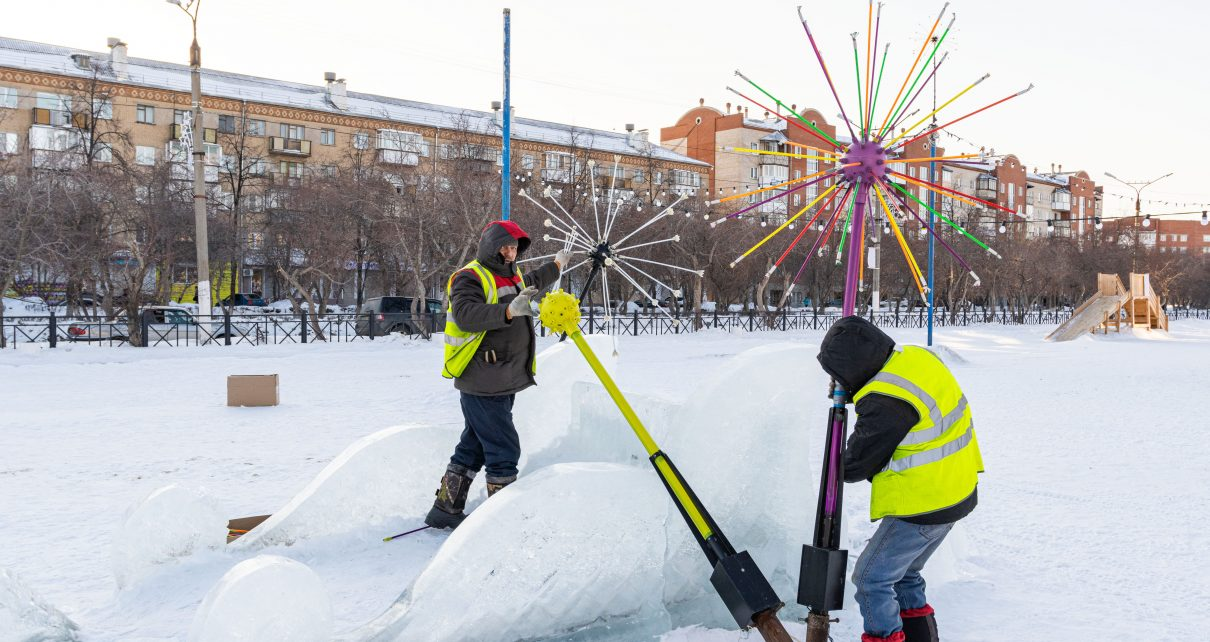 В Коркино демонтировали иллюминацию в главном зимнем городке