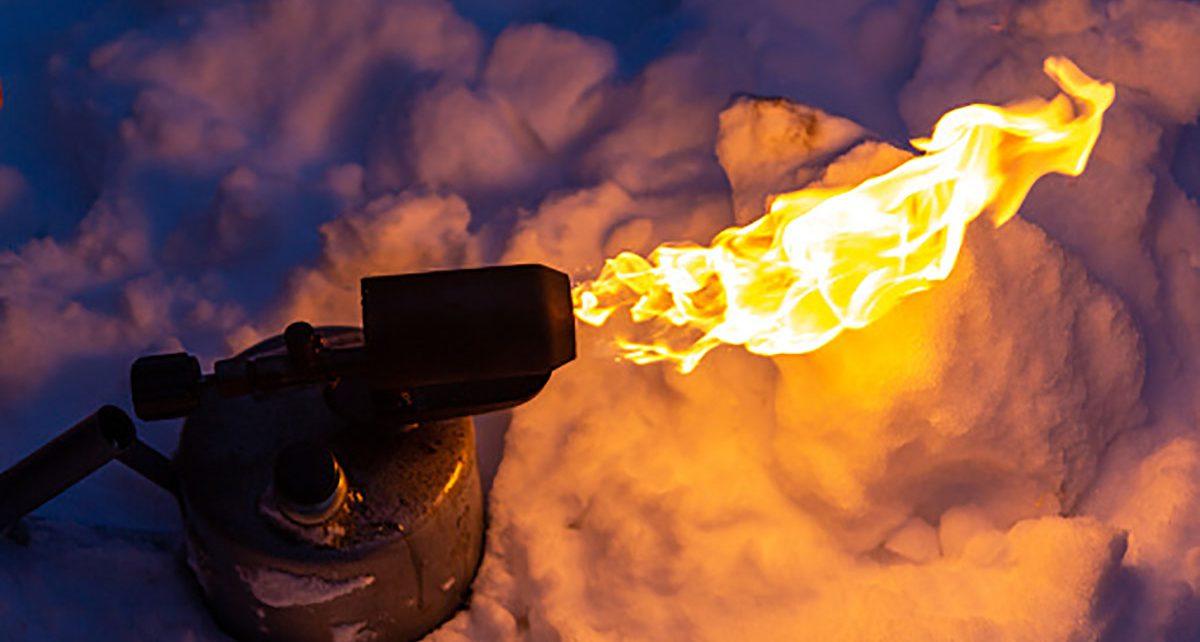 В посёлке Первомайском случился пожар из-за перемёрзшей трубы