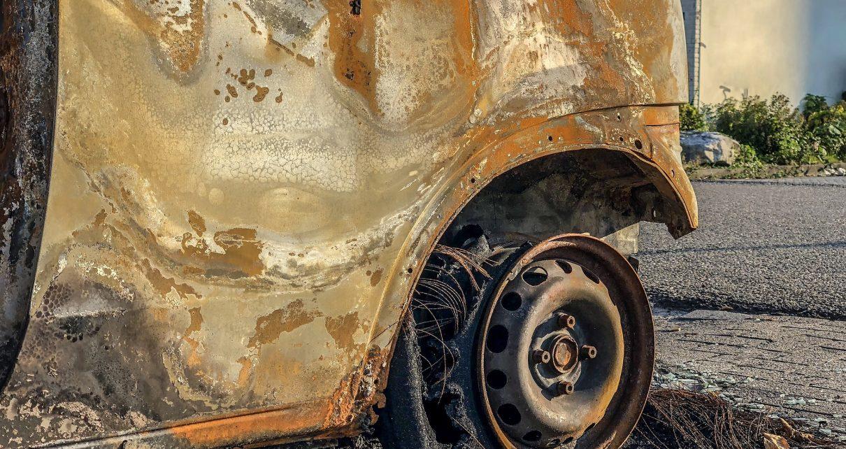 На трассе сгорел автомобиль