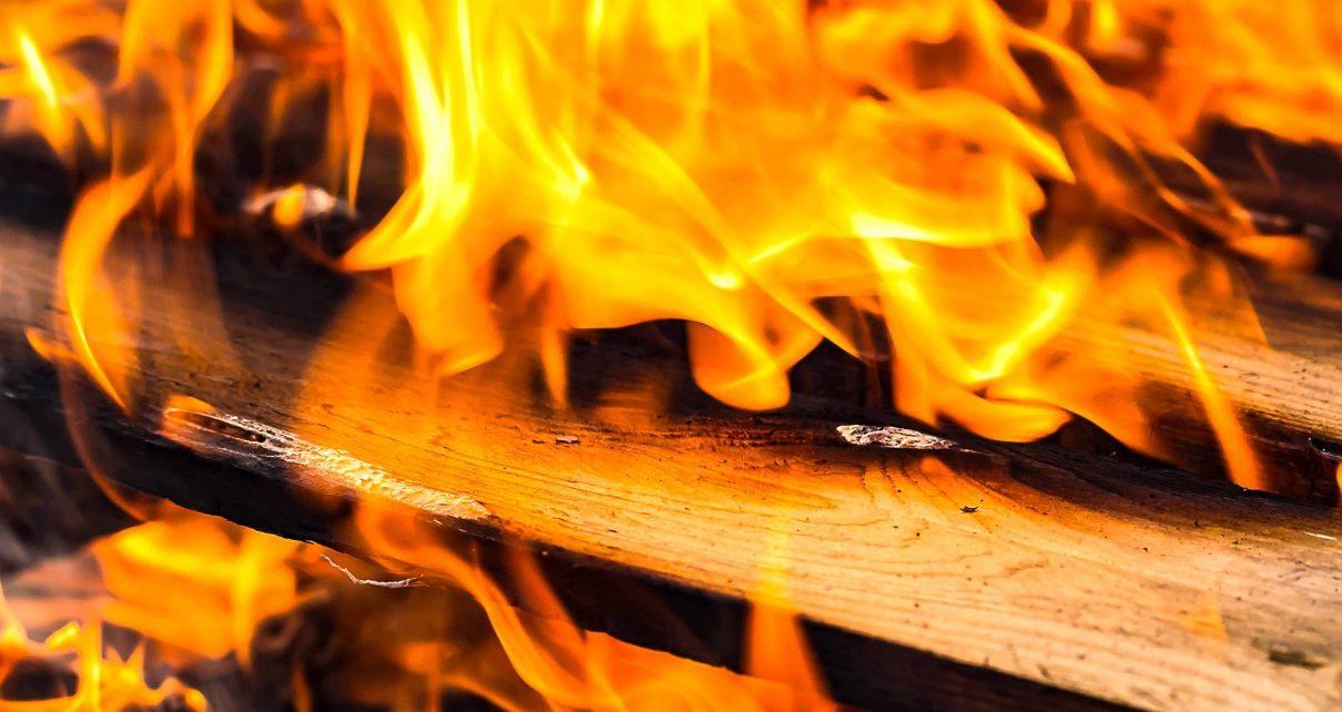 В Коркино горела опора ЛЭП, на Розе – баня