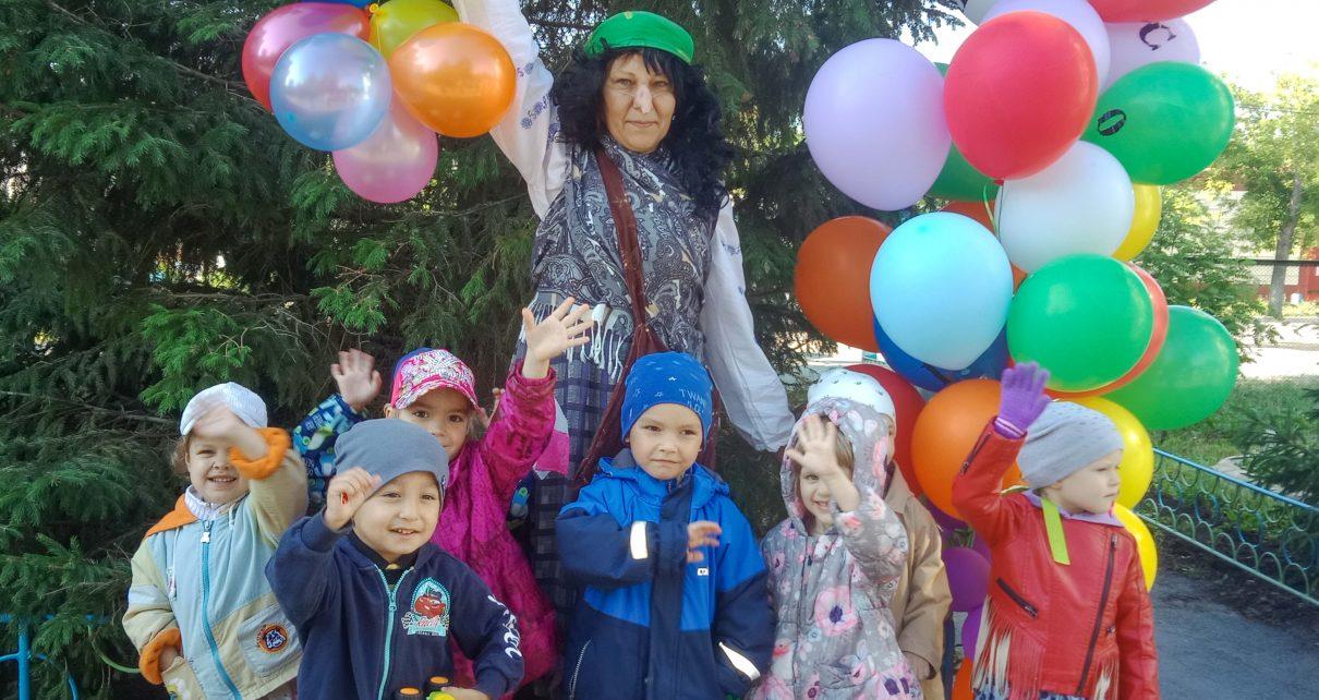 Коркинские дошколята рассказывали стихи Бабе Яге