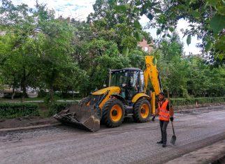 В Коркино начался ремонт улицы Ленина