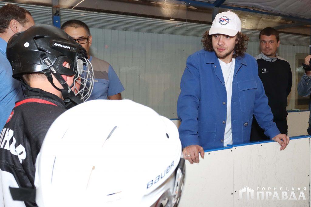 Панарин в Коркинском районе. Сегодня он встретился с юными хоккеистами