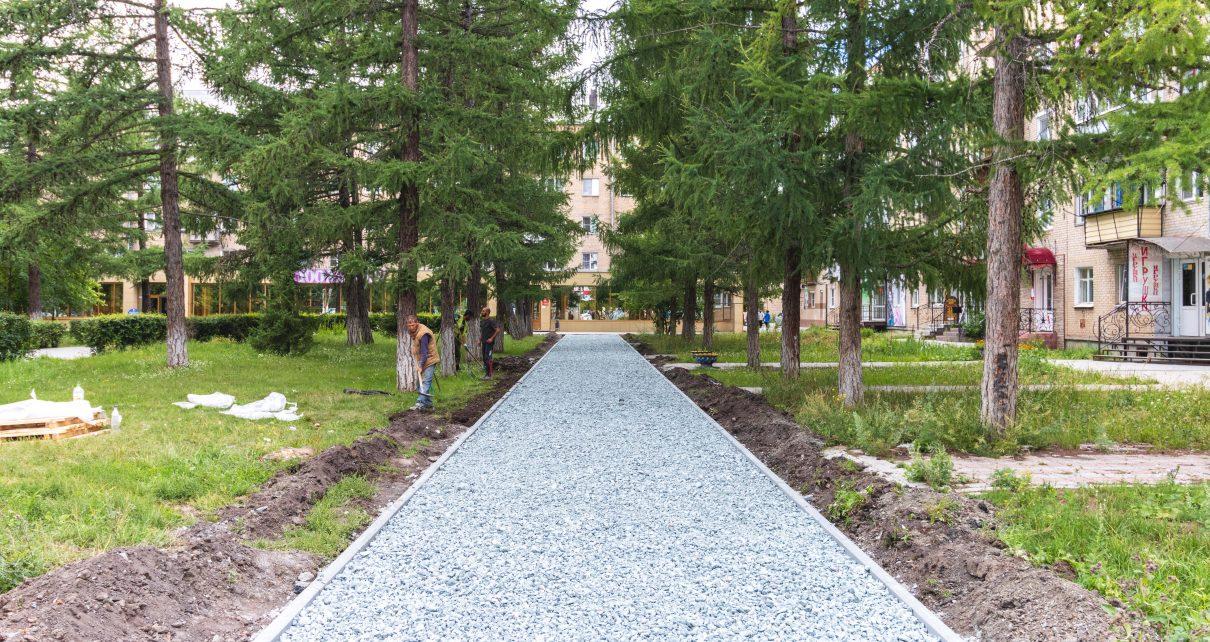 В Коркино благоустраивают тротуар, который попросили сделать жители