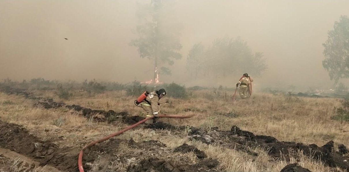 Губернатор провел оперативный штаб по пожарам на юге Челябинской области