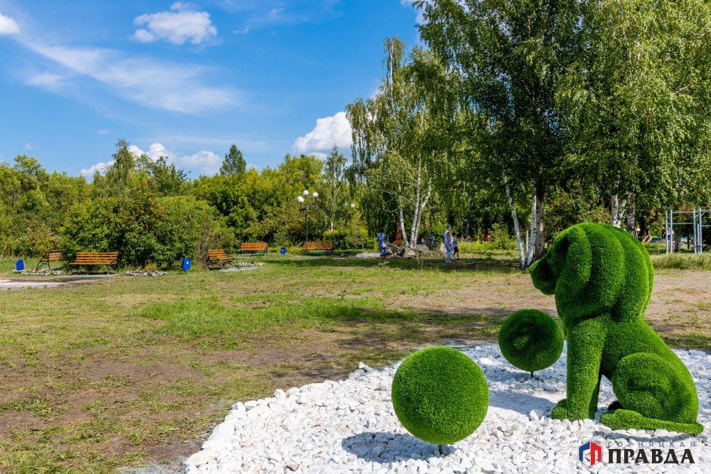 В коркинском парке установили новые арт-объекты
