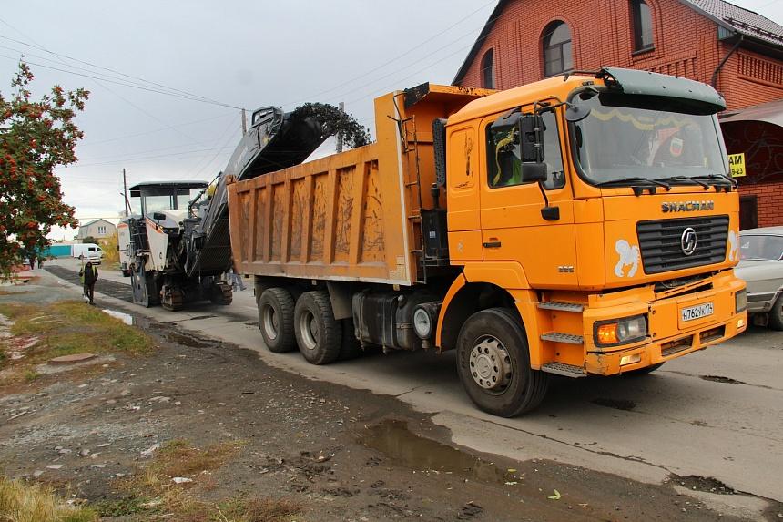 В Коркино ремонтируют дорогу на улице Блюхера