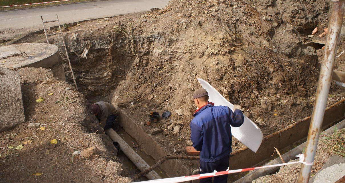 В Коркино заменили участок теплотрассы на улице Калинина